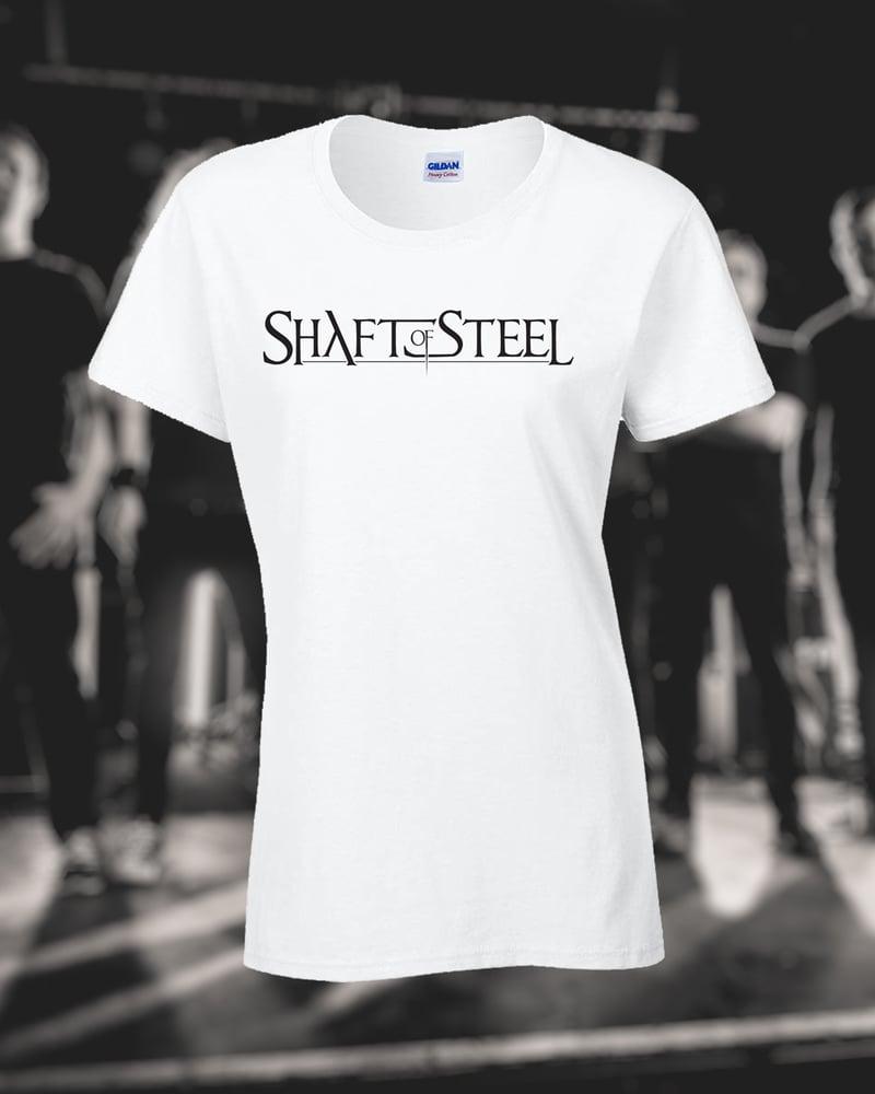 Image of Shaft of Steel Logo Women's T-Shirt - White