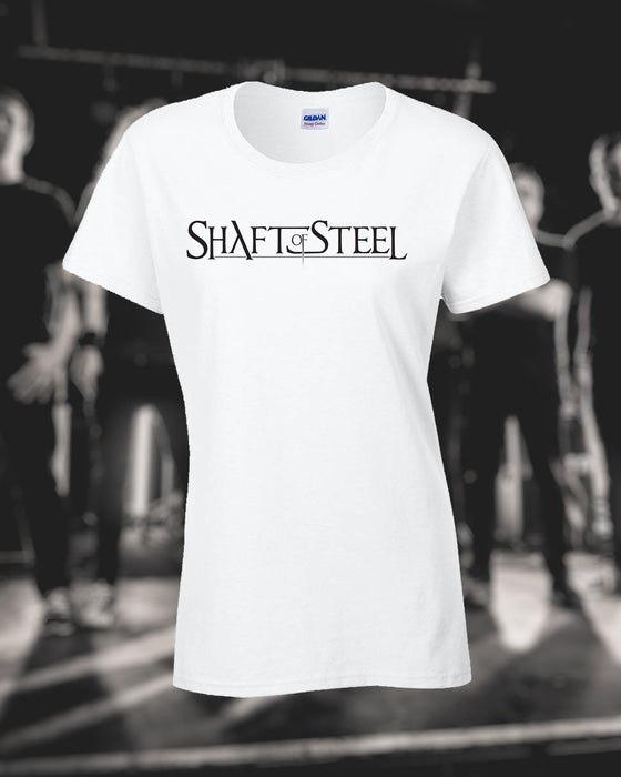 Image of Shaft of Steel Logo Women's T-Shirt - White