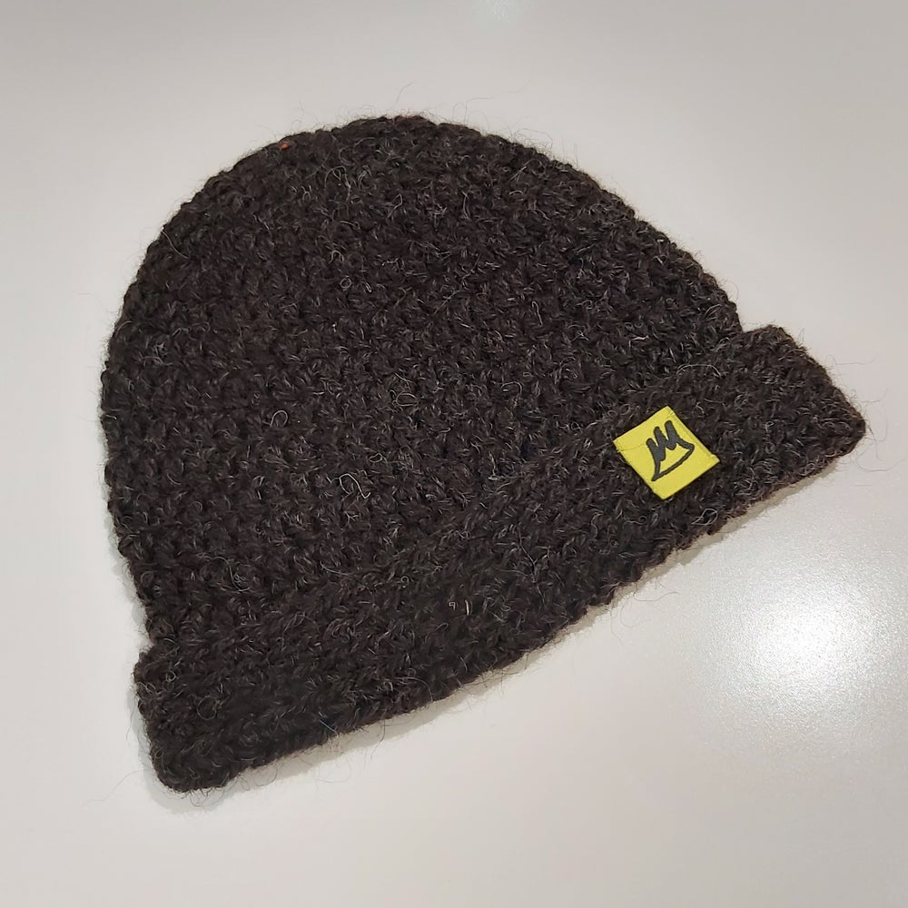 Image of Natural Brown Wool Beanie