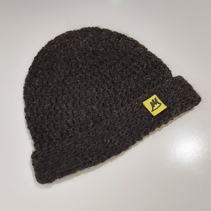 Image of Natural Brown Wool Beanie