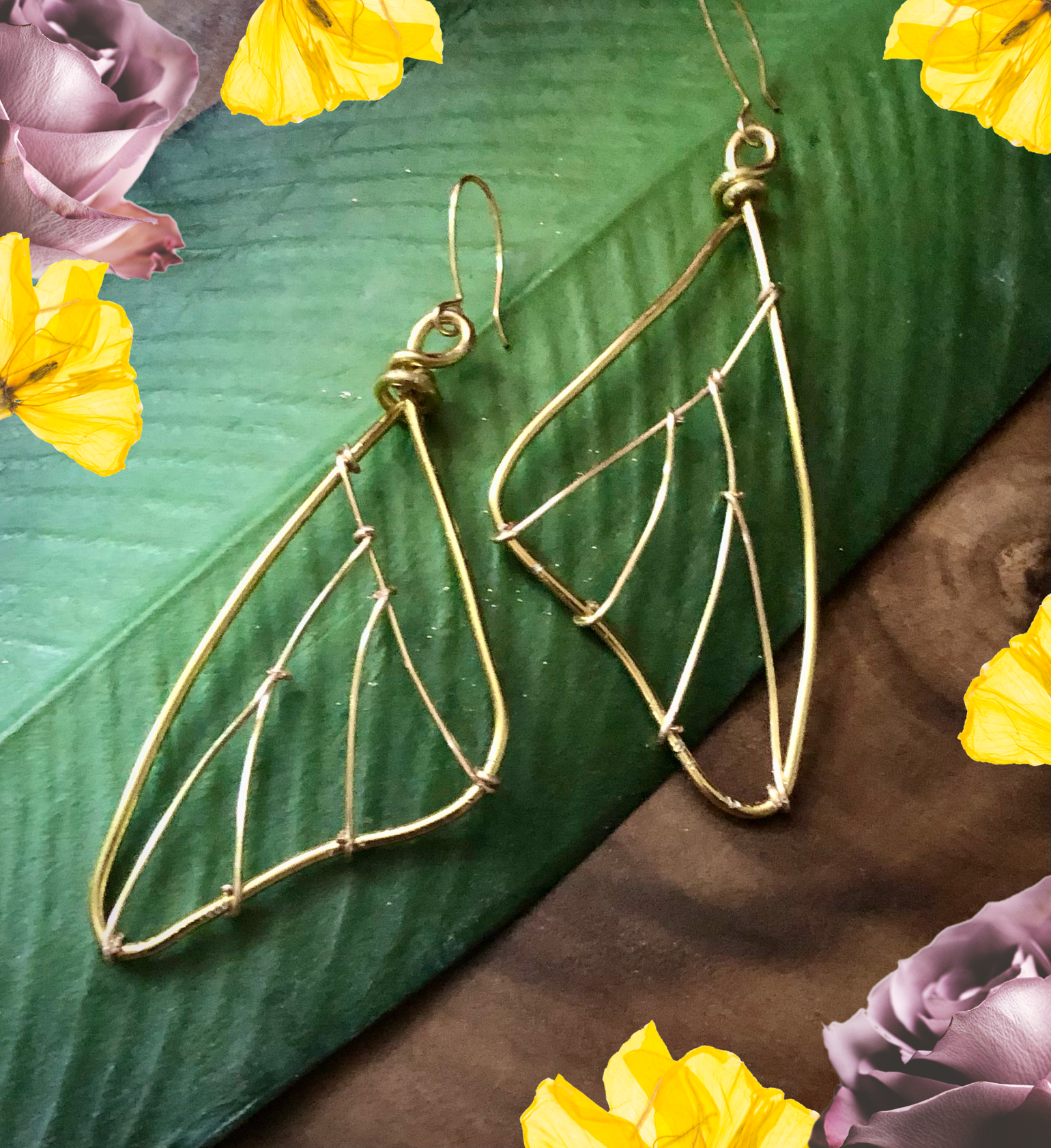 Image of Gold Butterfly Fairy Wings