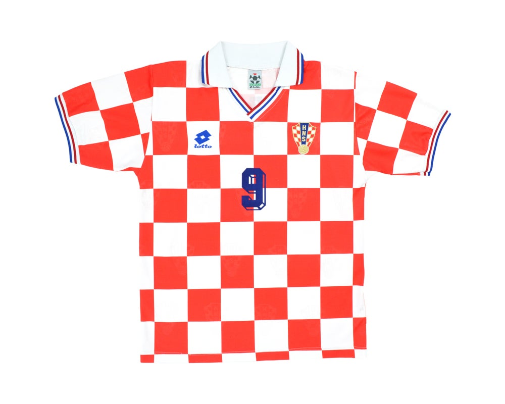 Image of 1994-96 Lotto Croatia Home Shirt 'Šuker 9' L