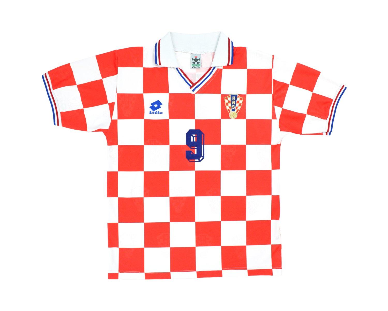 Image of 1994-96 Lotto Croatia Home Shirt 'Šuker 9' L
