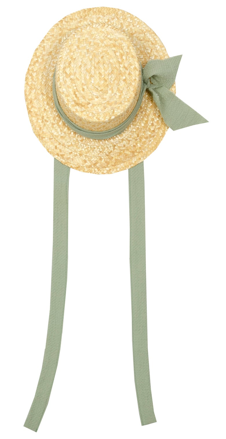 Image of straw HAT green    last piece    size M