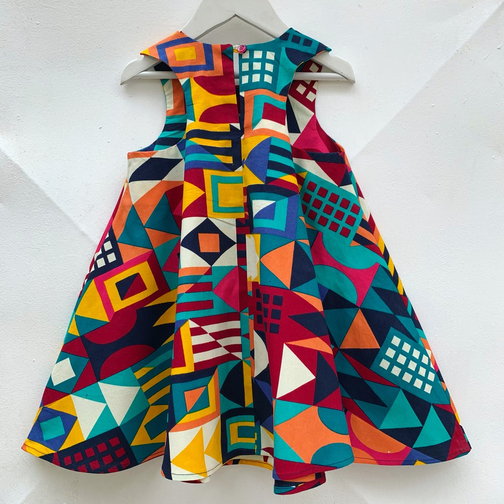 Image of Spin dress in Cubism