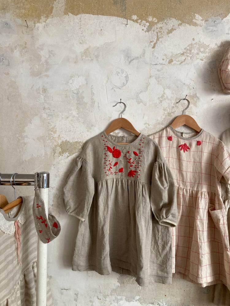 Image of DAY DRESS hand embroidered
