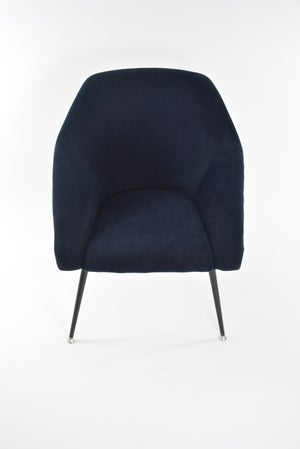 Image of Fauteuil coquille bicolore bleue