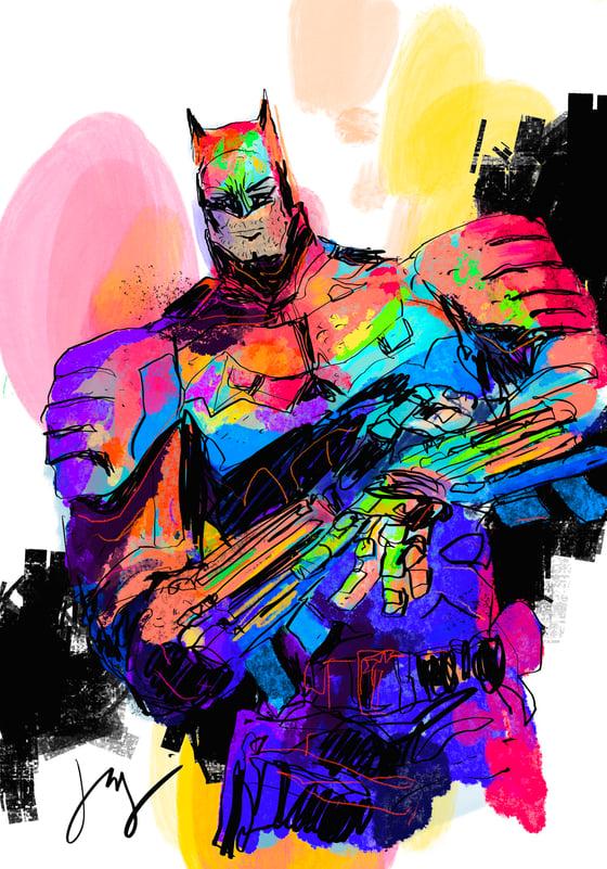 Image of NEON BATMAN