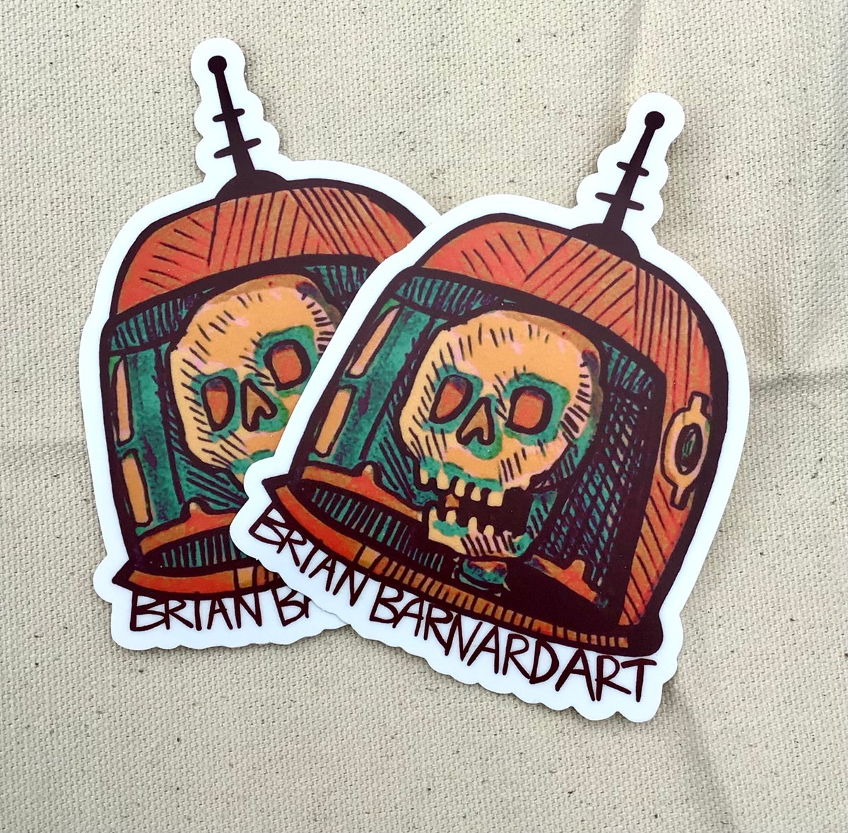 Image of Astro Deaths Head Stickers