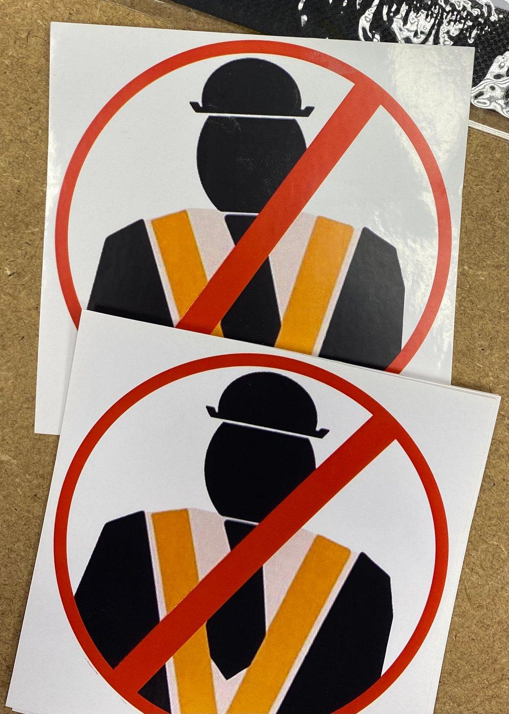 No Orange Men Stickers