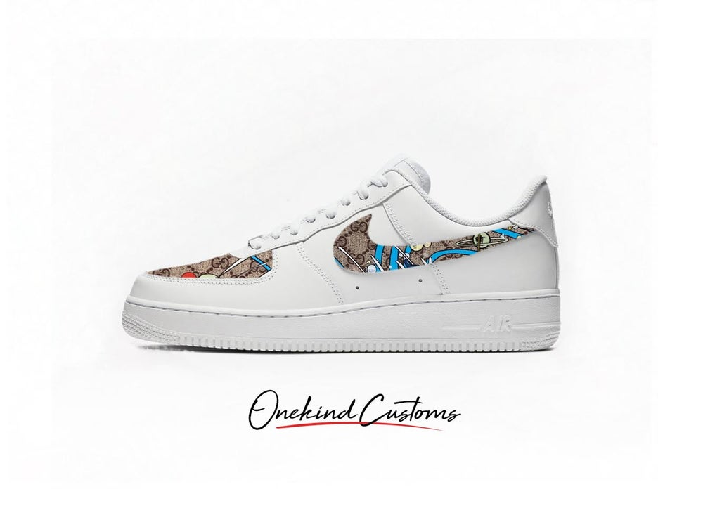 Image of Gucci x Donald x Nike AF1's