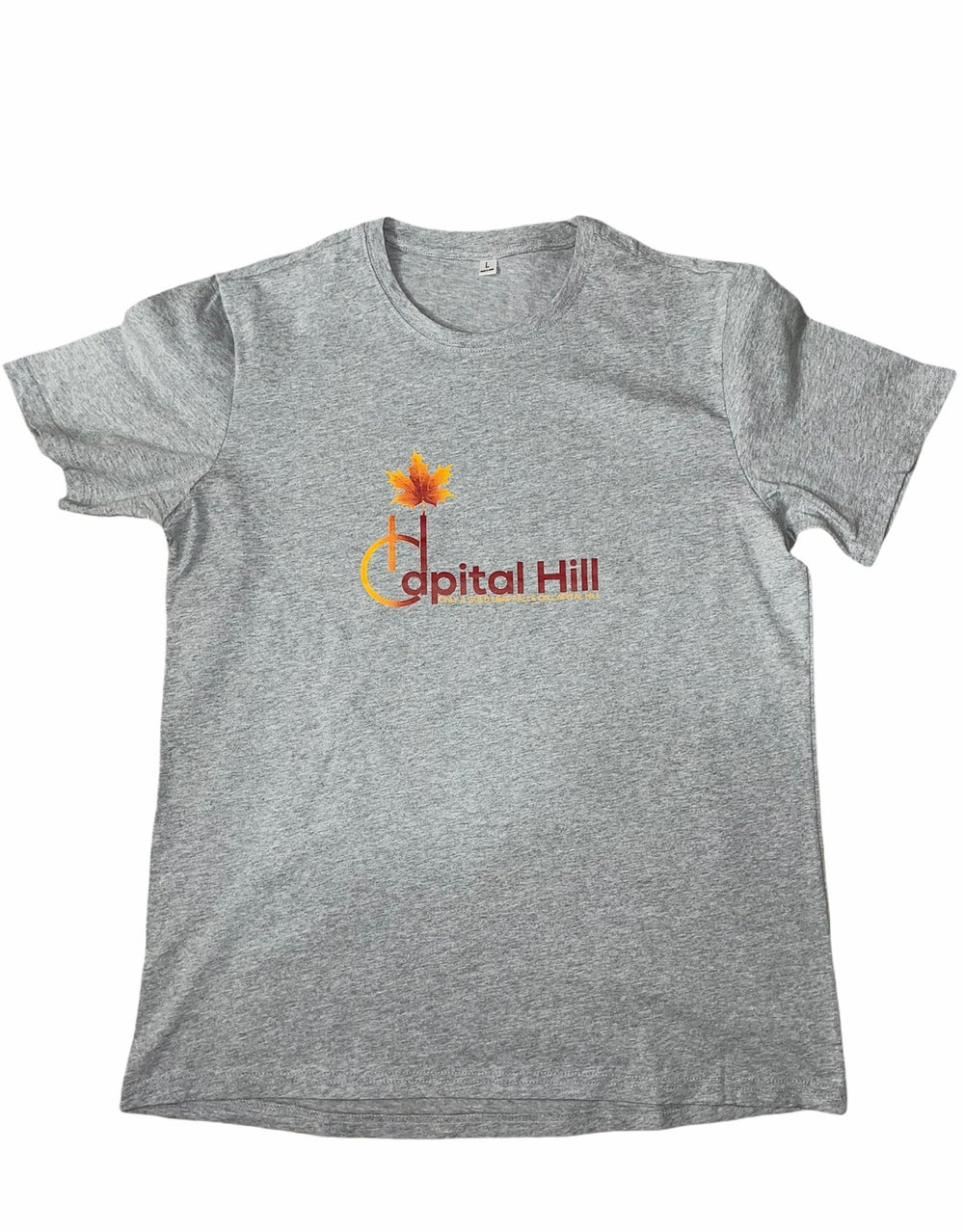 Image of Capital Hill Grey original logo T-Shirt