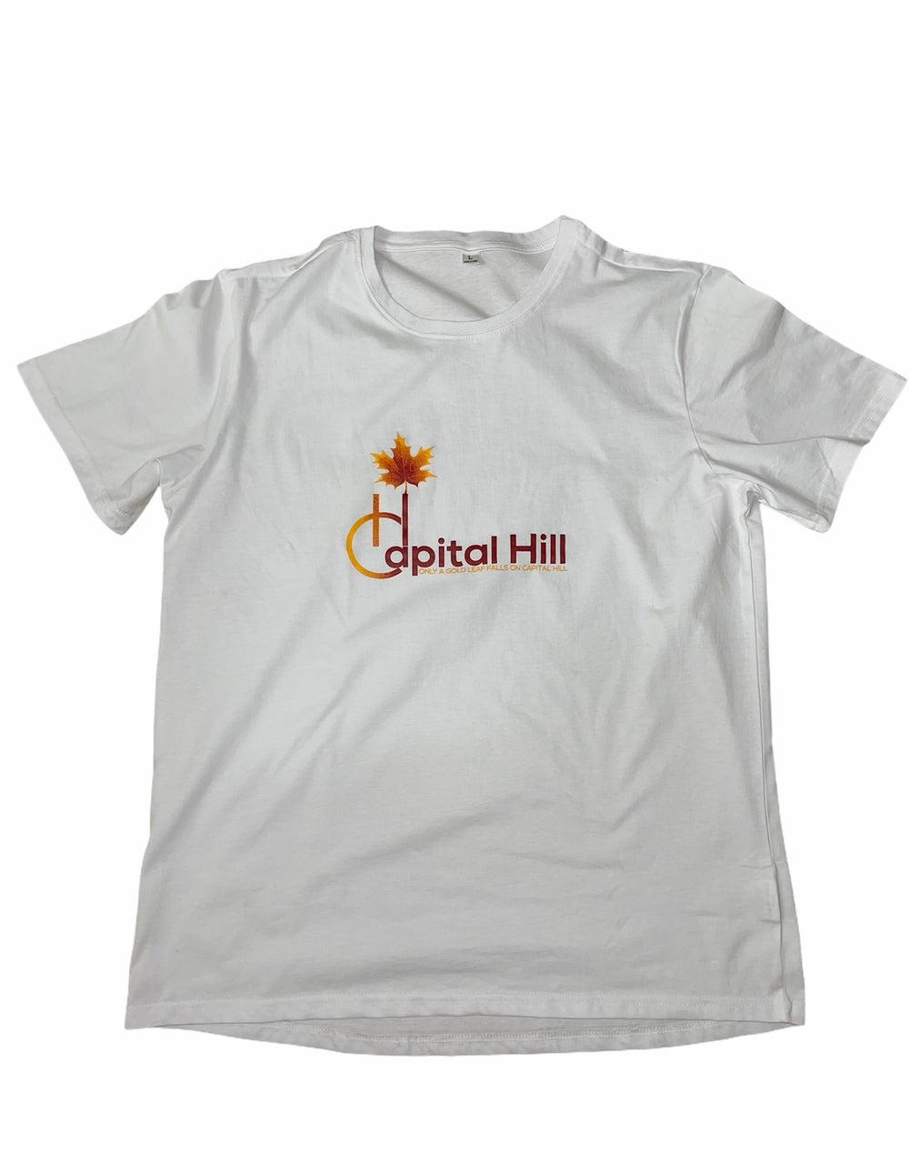 Image of Capital Hill White original Logo T-Shirt