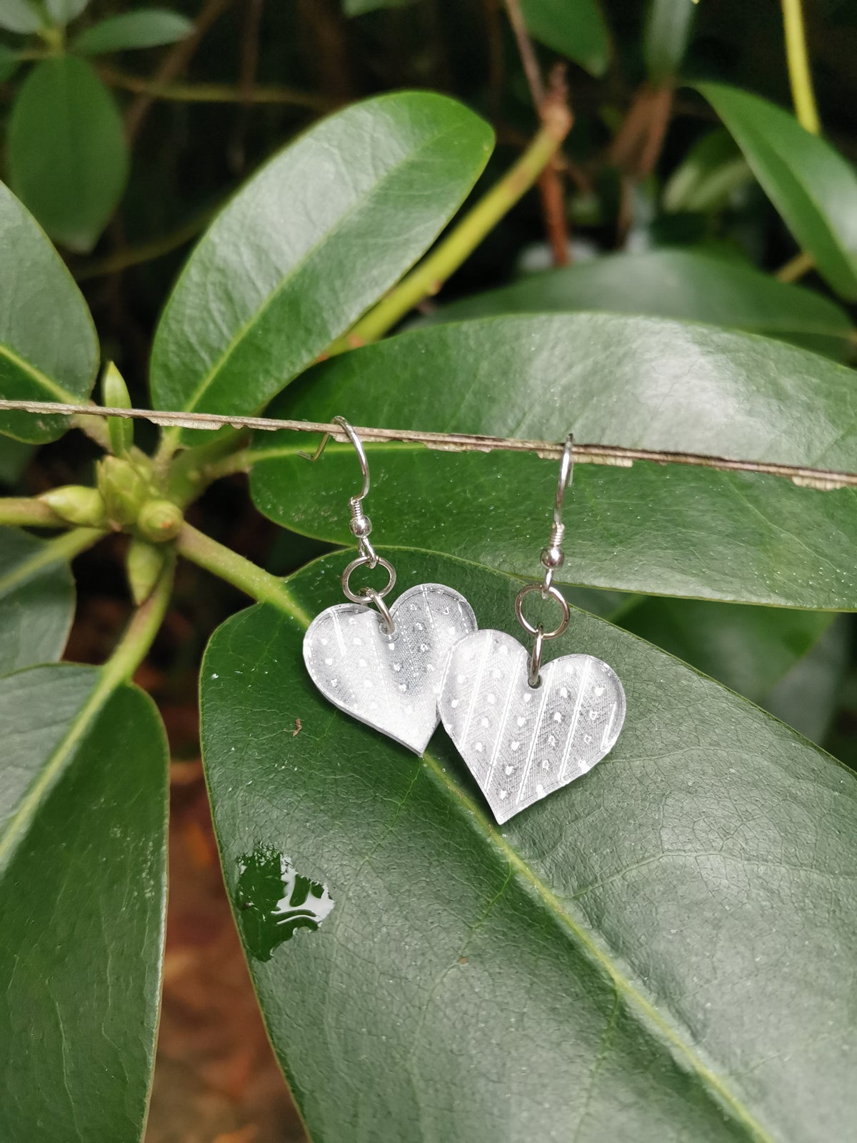 Image of Small Heart Drops in Silver