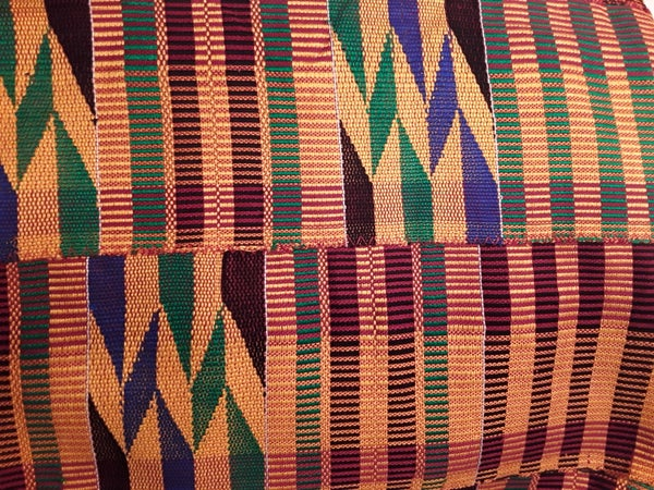 Image of Authentic Ghanaian Hand Woven Kente Cloth