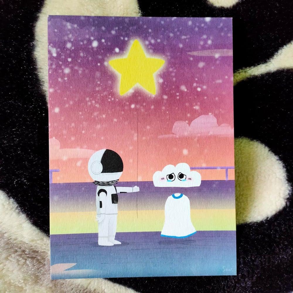 Image of Star Balloon - postcard