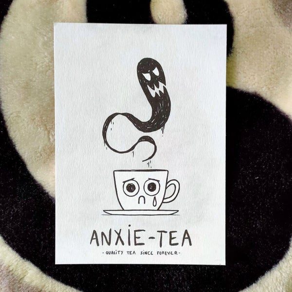 Image of Anxie-tea - postcard