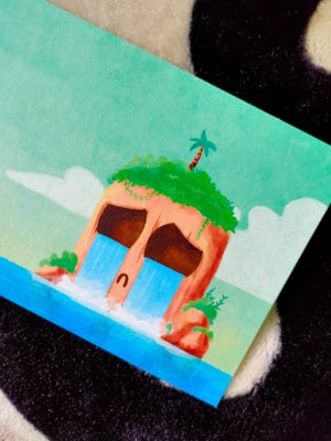 Image of Lonely island postcard