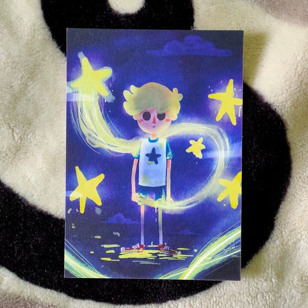 Image of Painting the stars - postcard