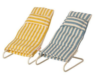 Image of Maileg - Beach Chair Set Mouse (Pre-order)