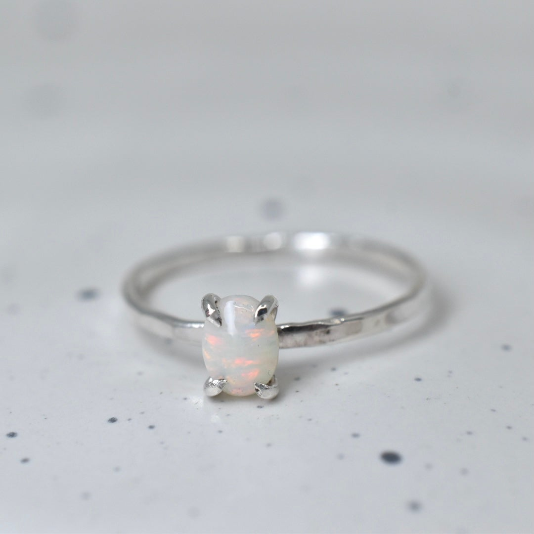 Image of Sterling Silver Opal Ring