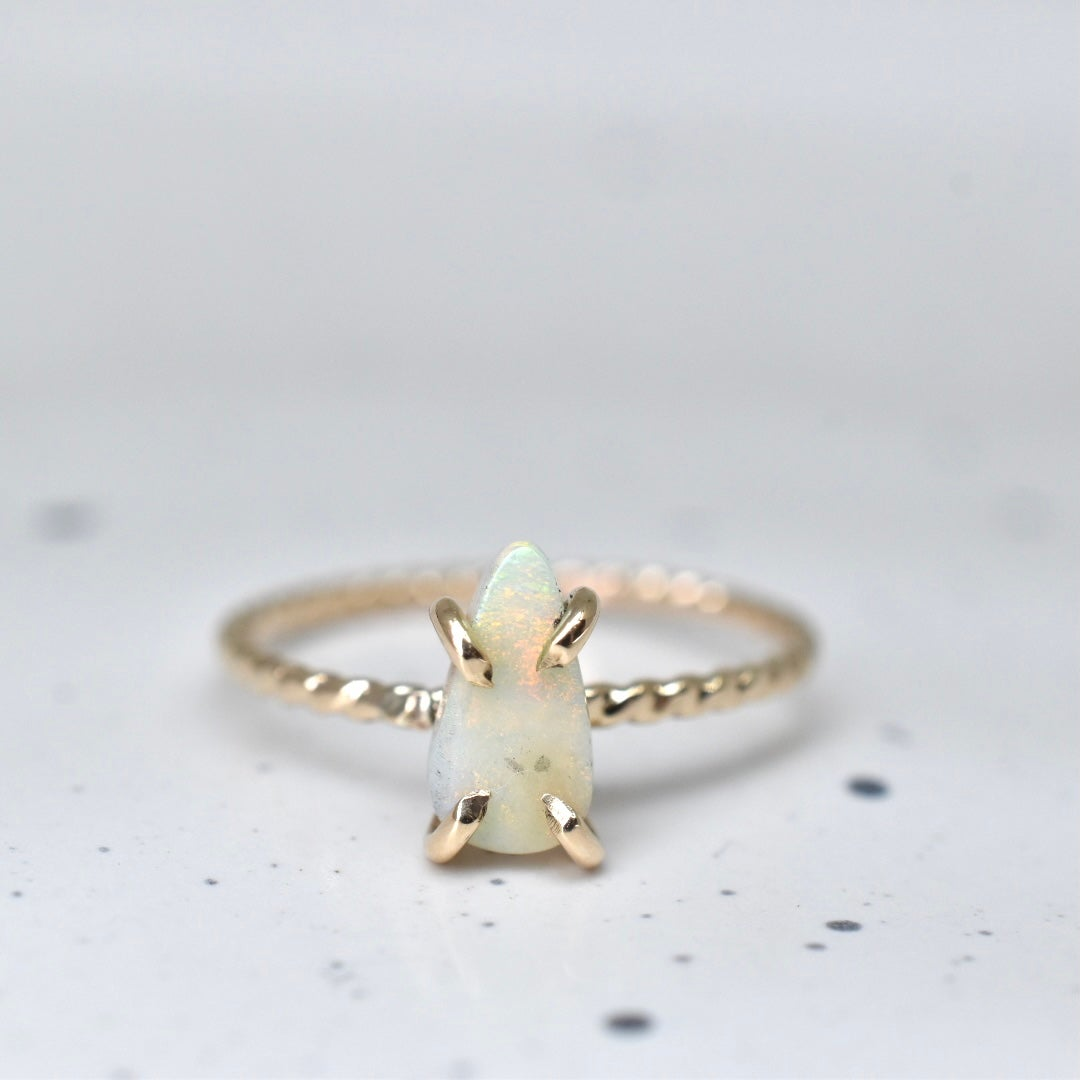 Image of 14k Gold Filled Petite Opal Ring