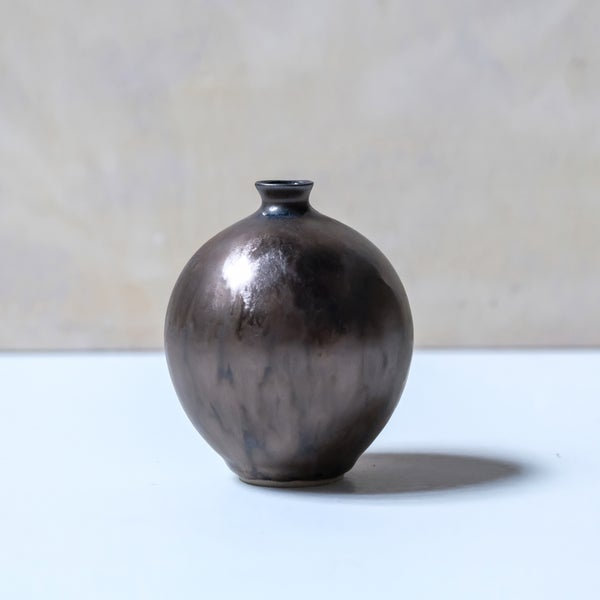 Image of SMALL BULB VASE IN BRONZE GLAZE