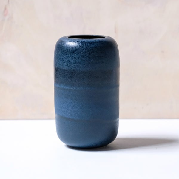 Image of UNIKA VASE IN MIDNIGHT BLUE GLAZE