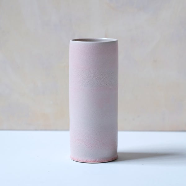 Image of UNIKA CYLINDER IN CORAL GLAZE 1