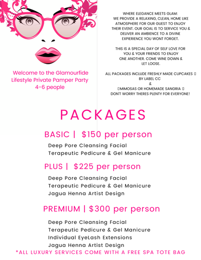Image of Private Pamper Party Deposit