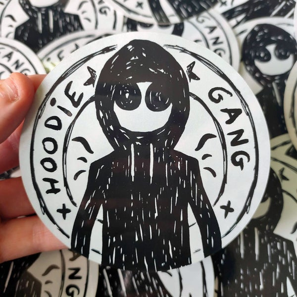 Image of Hoodie Gang - 2 x 9,5 x 9,5 cm stickers