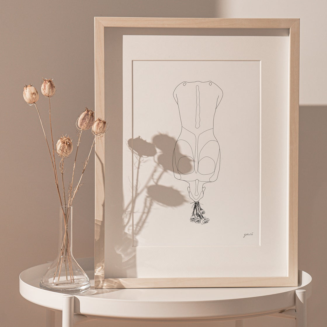 Image of 'HOLD ME UP WHEN I AM ABOUT TO FALL' PRINT
