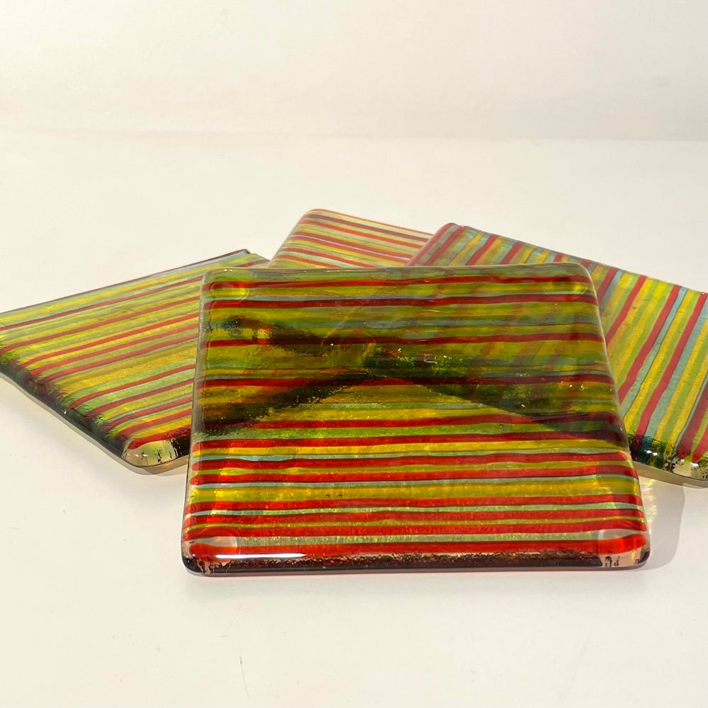 Image of Striped coasters