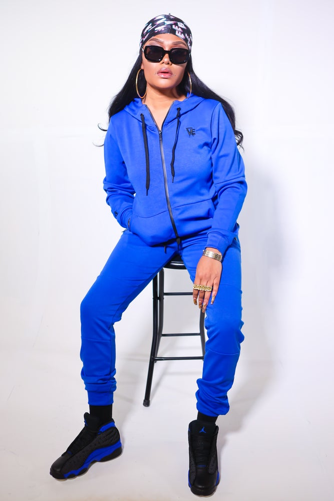 Image of Unisex Nipsey Blue Tech Sweatsuit