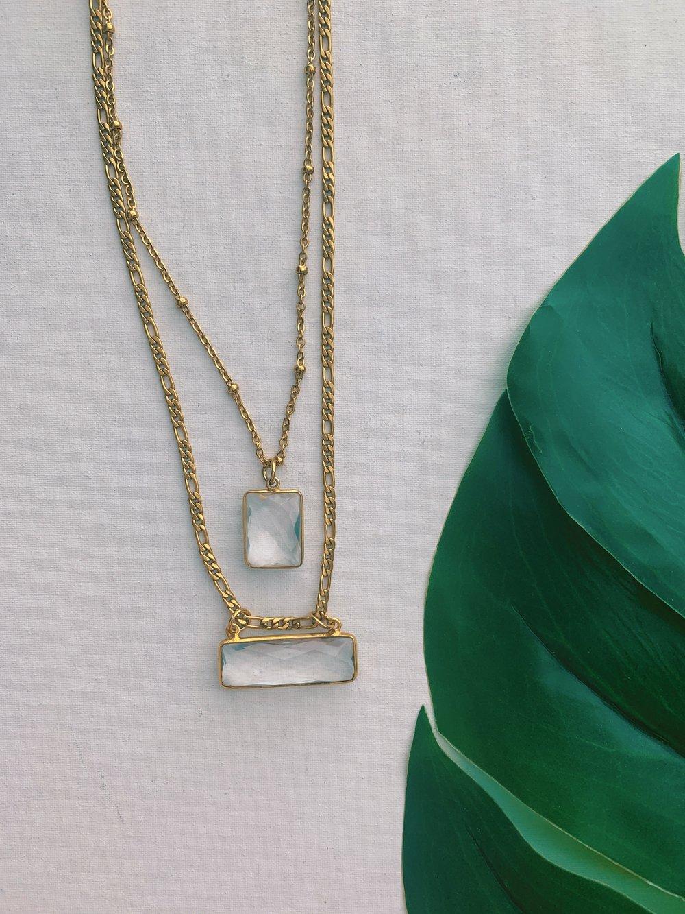 Image of MAKI • Quartz Necklace Set