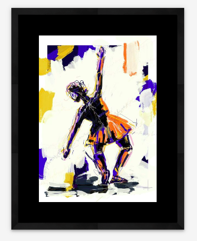 Image of Dancer on Blue - artist print