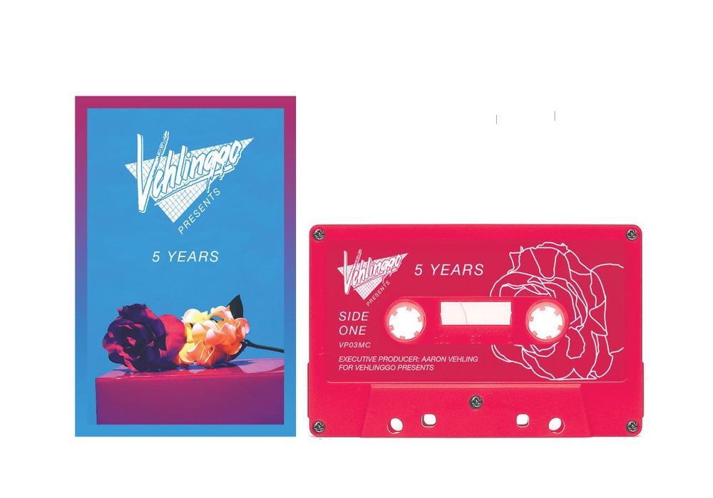 Image of 'Vehlinggo Presents: 5 Years' Rubine Red Cassette Tape (25 copies)