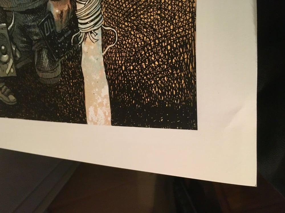 Image of MF DOOM limited editition colour Giclee SLIGHT DAMAGE
