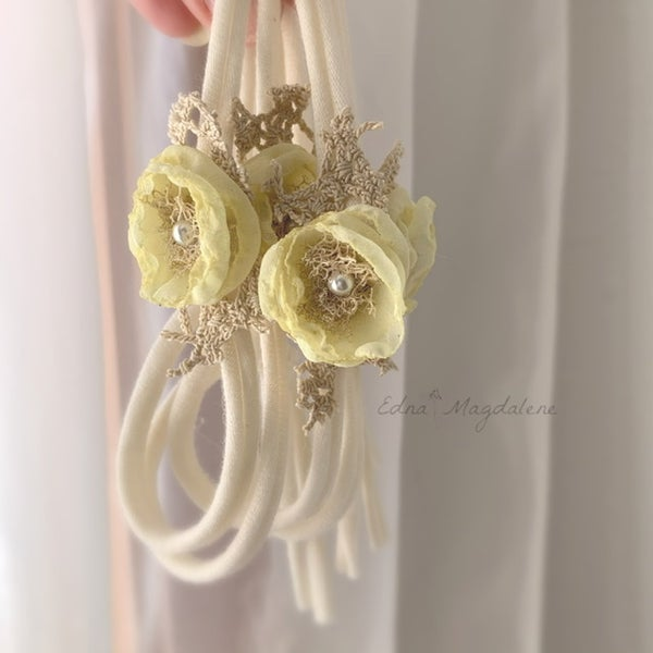 Image of Vintage yellow headband