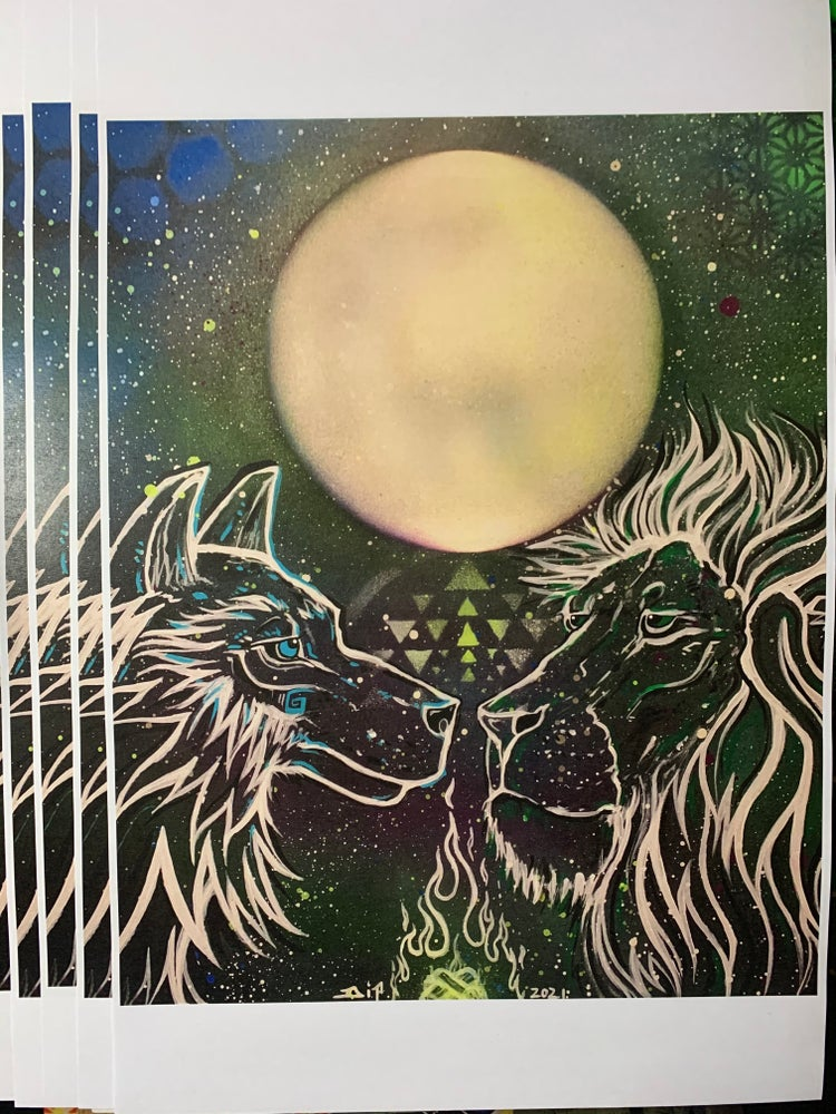 Image of Wolf Moon in Leo prints