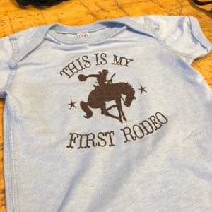 Image of First Rodeo - 12 month onesie