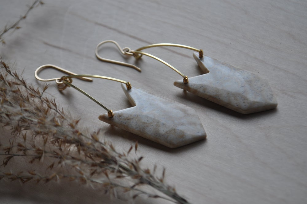 Image of One of a Kind Indonesian Fossil Coral Dangles