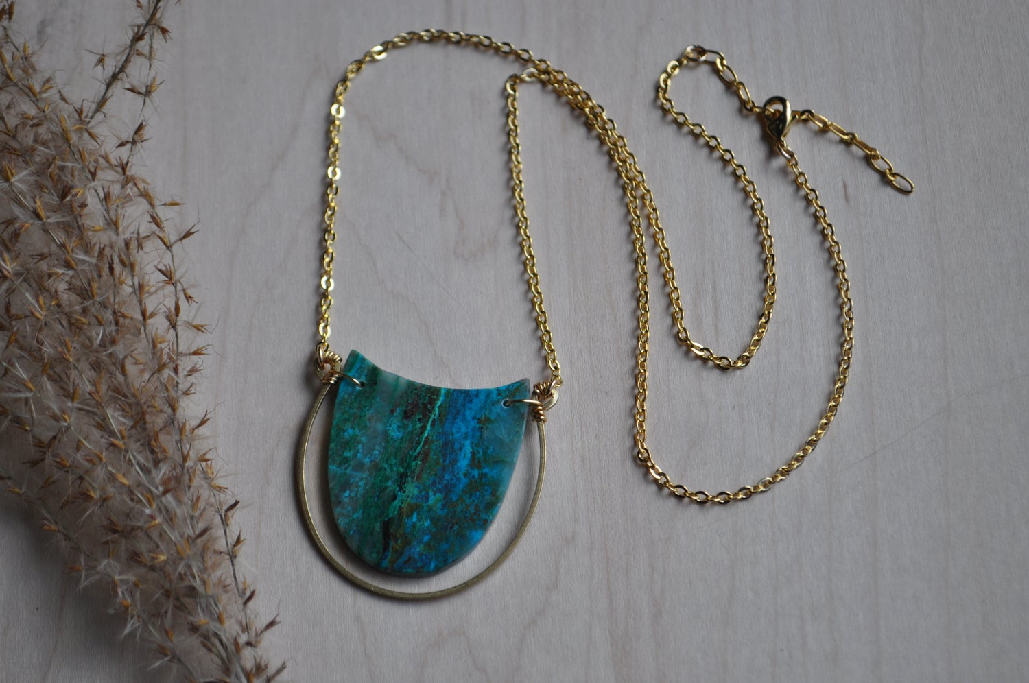 Image of OOAK Chrysocolla Necklace
