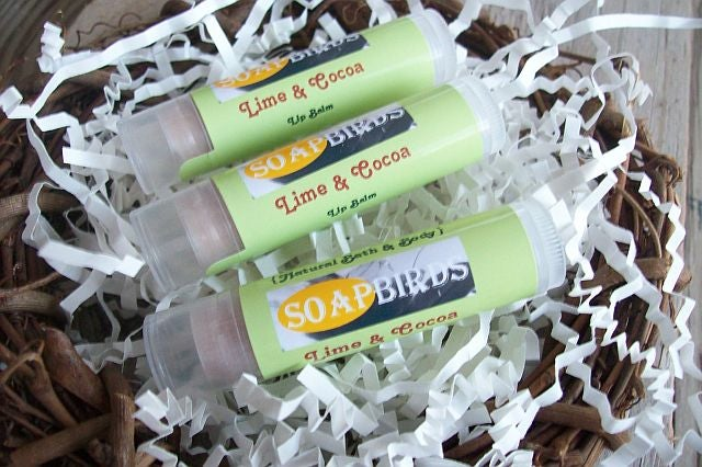 Image of All Natural Lip Balms-3 Pack-Lip Balm Gift Set-Sweet Beaks Collection-Essential Oil Lip Protectant