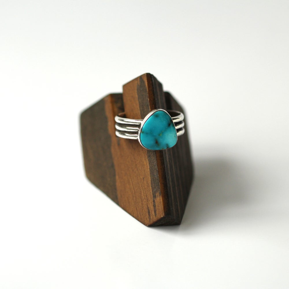 Turquoise Mountain Sterling Silver Ring - Size 9.5