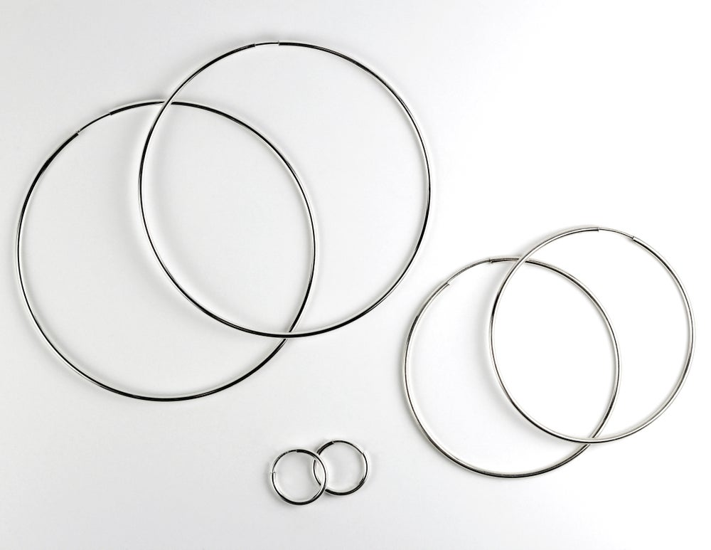 Small Sterling Silver Endless Hoops