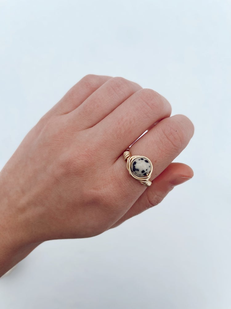 Image of Speckled Stone Ring