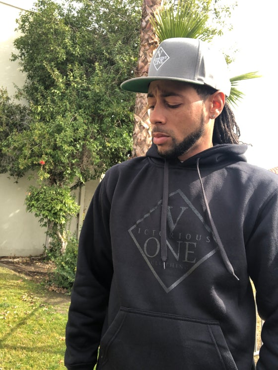 Image of V1 Double Black hoodie (Limited edition)
