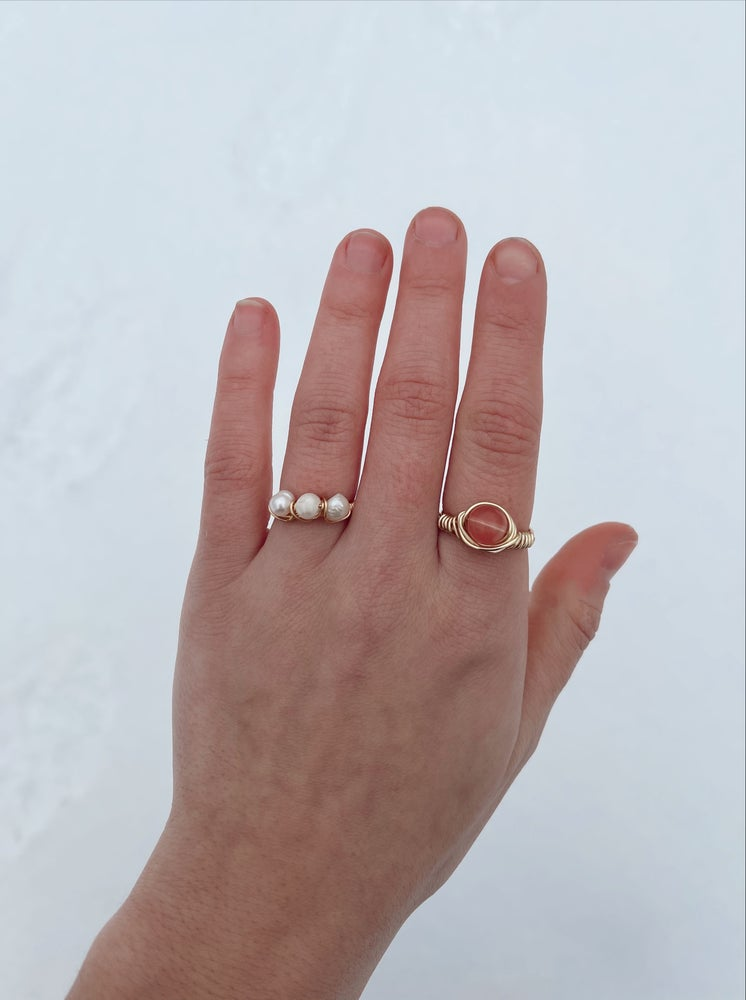 Image of The Triple Freshwater Pearl Ring