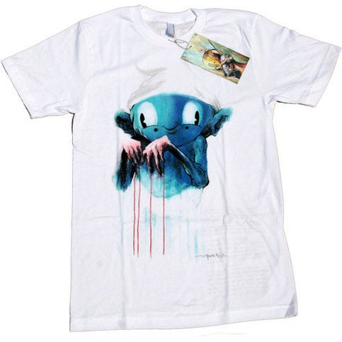 Image of Guilty Smurf White | by Alex Pardee | T Shirt